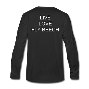Men's Live Love Fly Long Sleeve T-Shirt - black