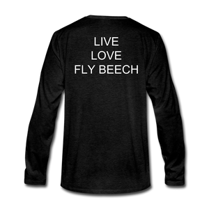 Men's Live Love Fly Long Sleeve T-Shirt - charcoal gray