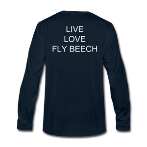 Men's Live Love Fly Long Sleeve T-Shirt - deep navy