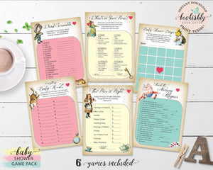 Alice in Wonderland Baby Shower Games Bookishly Ever After