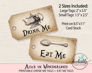 photo regarding Alice in Wonderland Printable named Alice within Wonderland Printables Bookishly At any time Right after