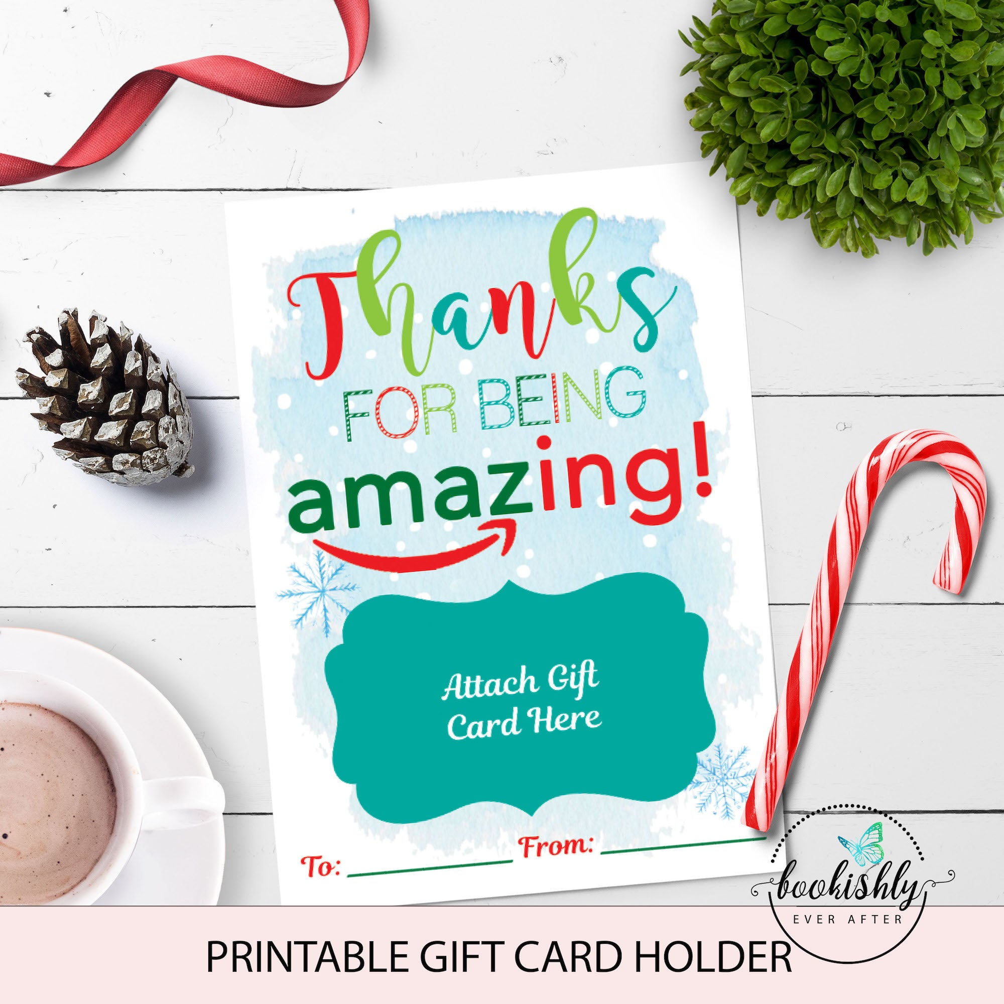 amazon christmas gift card holder printable teacher gift bookishly ever after amazon christmas gift card holder printable teacher gift bookishly ever after