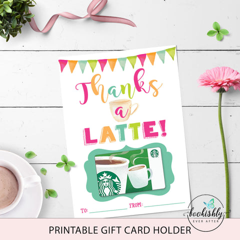 graphic about Thanks a Latte Printable named Instructor Appreciation Printables Bookishly At any time At the time