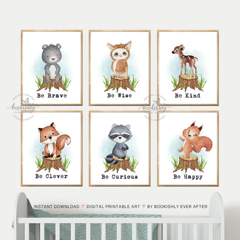 Boy or Girl Nursery Wall Decor Digital Printable Instant Download. BUNNY Nursery Wall Art Even the smallest One can change the World