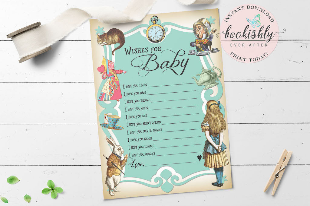 picture relating to Baby Shower Mad Libs Printable titled Alice within just Wonderland Youngster Shower Need Playing cards, Youngster Shower Ridiculous Libs, Blue Boy or girl Shower Match PRINTABLE Obtain, BEA155