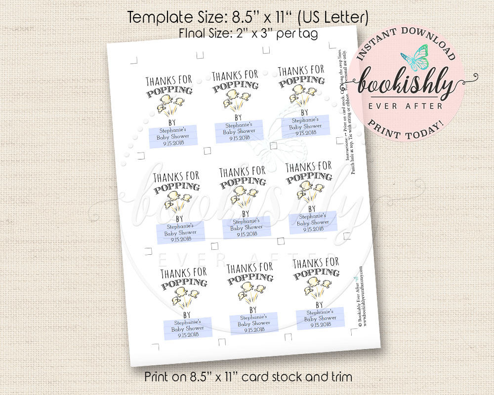 image regarding Popcorn Bag Printable called Popcorn Tag Printable, Because of for Popping By means of Tags, Popcorn Choose Tags, Popcorn Present Tags, Popcorn Bag Labels, Editable Template, BEA603