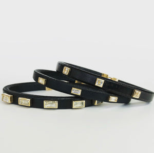 Multi Baby Baguette Leather Bracelet