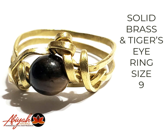 Brass & Tiger's Eye Ring