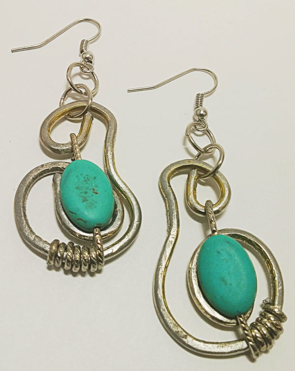 Antiqued Turquoise Style Swirl