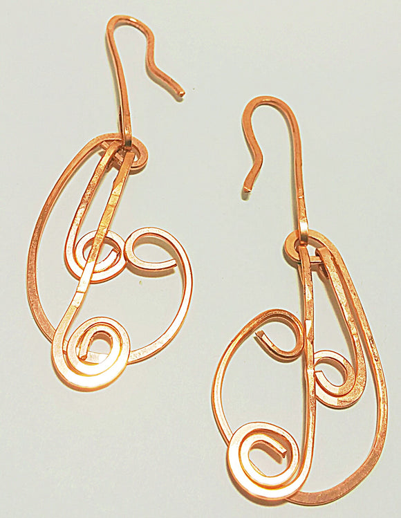 Symphony- Copper wire earrings
