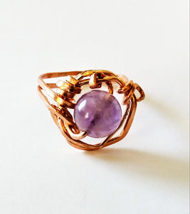 Copper & Amethyst Ring