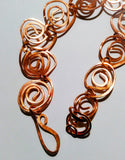 Hand Hammered Copper Swirl Bracelet