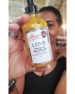 LOVE Body Oil w/Rose Quartz GOLD EDITION
