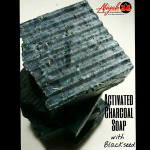 Activated Charcoal Soap w/ Black Seed & Sea Moss