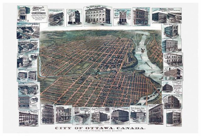 Vintage Ottawa Map