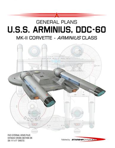 MK II Corvette, U.S.S. Arminius DDC-60, Arminius class, General Plans