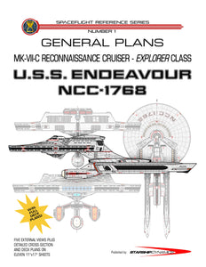 MK-VII-C Reconnaissance Cruiser, U.S.S. Endeavour NCC-1768, Explorer class starship: general plans