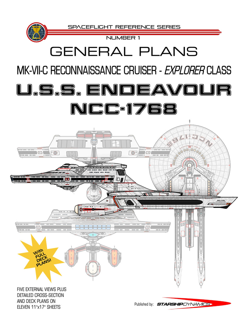 Mk Vii C Reconnaissance Cruiser Uss Endeavour Ncc 1768 Explorer Aviation Engineering Schematics Starship Dynamics