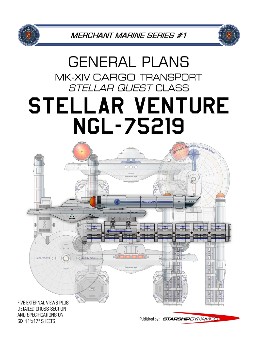 MK-XIV Cargo Transport, Stellar Venture NGL-75219, Stellar Quest class: General Plans