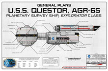 Planetary Survey Ship, USS Questor AGR-65, Explorator class, General Plans