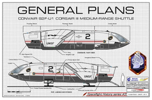Convair S-2F-U1 Corsair III Shuttle, general plans