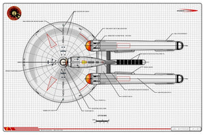 MK-VII-B Heavy Scout, U.S.S. Endeavour NCC-1768, Cygnus class starship: General Plans