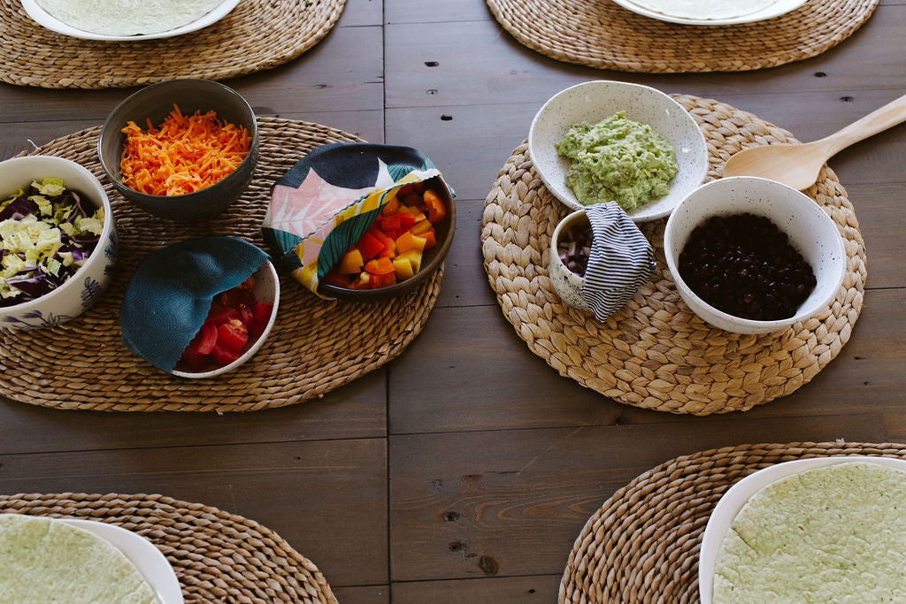 Zero waste taco dinner using Goldilocks beeswax food wraps