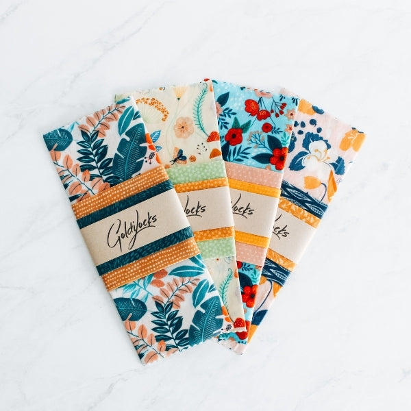 Eco-friendly, sustainable beeswax wraps