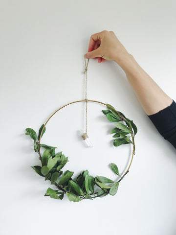 wreath making diy crystal eco friendly
