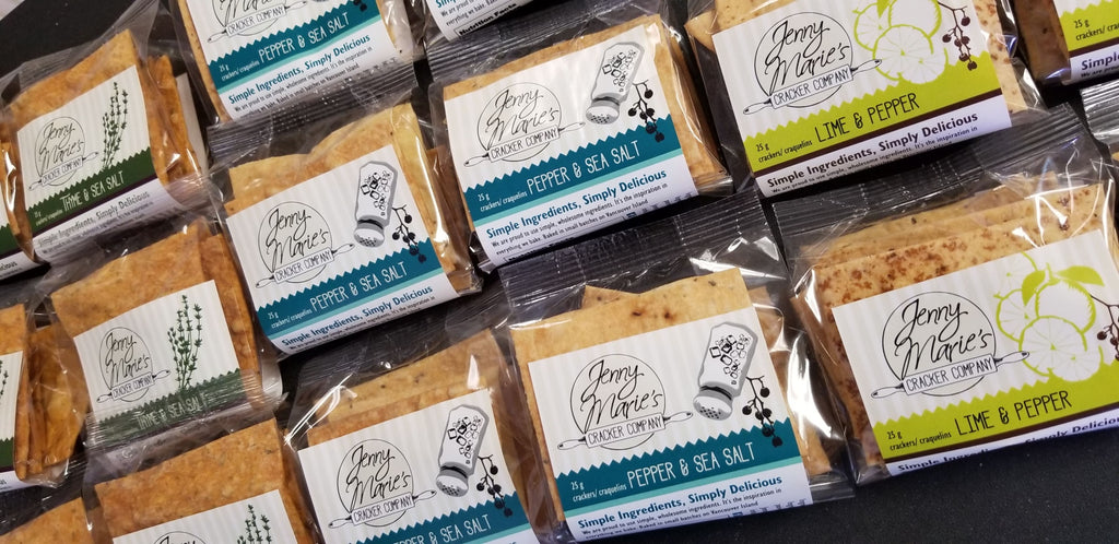 Jenny Marie Crackers handmade in Victoria BC at Goldilocks Lighthouse Market