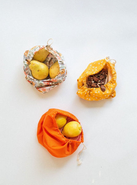 Zero waste, low waste, eco-friendly, sustainable, fabric produce bags