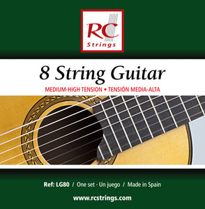 Royal Classics LG80 8 String Guitar Medium-High Tension - Ronda Guitar House