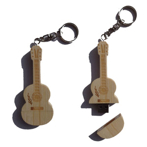 Pen Drive 4gb - Wooden Guitar