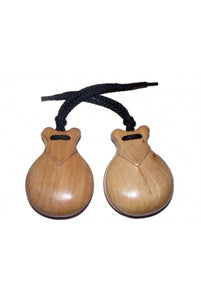 JALE Castanets Semiprofessionals Polished Natural
