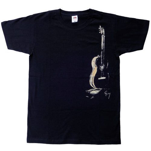 T- shirt  Male Guitar (Black)