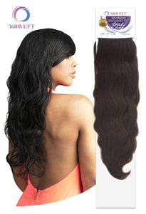 360 WEFT - Brazilian Knot Weft Unprocessed Yaki Body Wave 100% Human Hair Remi 18 Inch (11 wefts) BKWHYB18(11) 360 WEFT Weaves