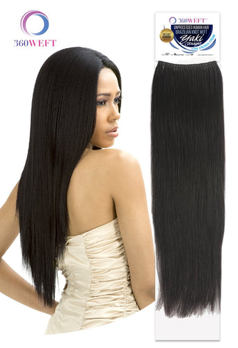 360 WEFT - Brazilian Knot Weft Unprocessed Yaki Straight 100% Human Hair Remi 18 inch (11 wefts) BKWHUYS18(11) 360 WEFT Weaves