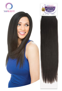 360 WEFT - Brazilian Knot Weft Yaki Straight 100% Human Hair Remi 18 inch (11 wefts) BKWHYS18(11) 360 WEFT Weaves