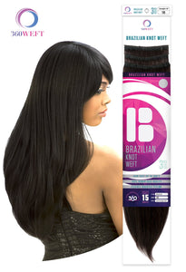 360 WEFT - Brazilian Knot Yaki Straight 100% Human Hair Remi 20 inch BKWS20F 360 WEFT Weaves