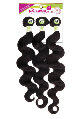@ 7A Brazilian Bundle 3pcs - Body Wave - AB3D1 Human Hair Remi Weaves