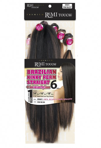 New Born Free Premium Remi Touch Weave NATURAL KINKY PERM STRAIGHT 6Pcs