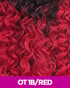 New Born Free - Brazilian Black Label 100% Human Hair Ocean Wave 10 Blo10 Ot1B/red / 10 Inches Human Hair Remi Weaves