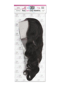 ALI Brazilian Black Label 360 Frontal Body Wave 7A 360 Frontal Body Wave 12 inch ALI360D12 Human Hair Remi Weaves