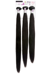 ALI Brazilian Bundle 3pcs - Straight Wave 10+12+14 7A 100% Human Hair Remi (Natural Black) BB3S1 Human Hair Remi Weaves