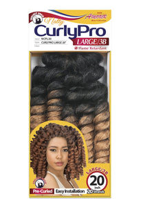 AMOUR NATTY CURLY PRO 20 LARGE 3B 100% UNOLONE 20 STRANDS 50PC/BOX NCPL20 Synthetic Hair Braids