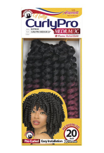 AMOUR NATTY CURLY PRO 20 MEDIUM 100% UNOLONE 20 STRANDS 50PC/BOX NCPM20 Synthetic Hair Braids