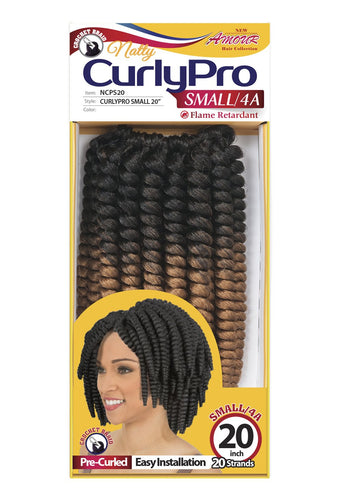 AMOUR NATTY CURLY PRO 20 SMALL 100% UNOLONE 20 STRANDS 50PC/BOX NCPS20 Synthetic Hair Braids