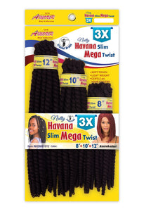 AMOUR NATTY HAVANA SLIM MEGA TWIST 8+10+12 (1/50) NHSM81012 Synthetic Hair Braids
