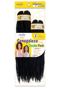 AMOUR NATTY SENEGALESE TWIST 10+12 DOUBLE PACK (1/100) 72STRANDS NSTM1012 Synthetic Hair Braids