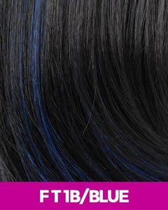 CUTIE COLLECTION MEDIUM LAYERED KK/TOYO SYNTHETIC HAIR WIG CT03 FT1B/BLUE Synthetic Hair Wigs